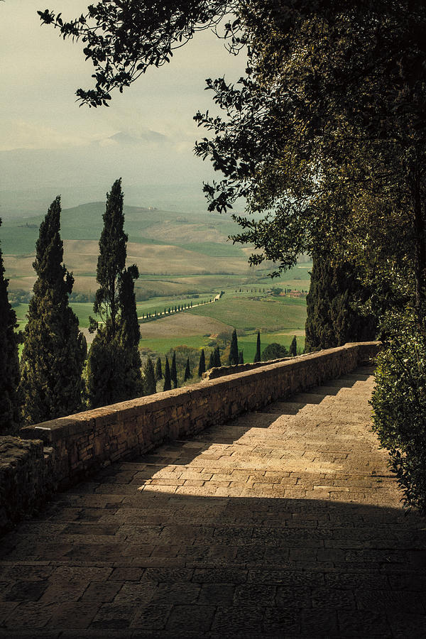 Staircase To Pienza Photograph