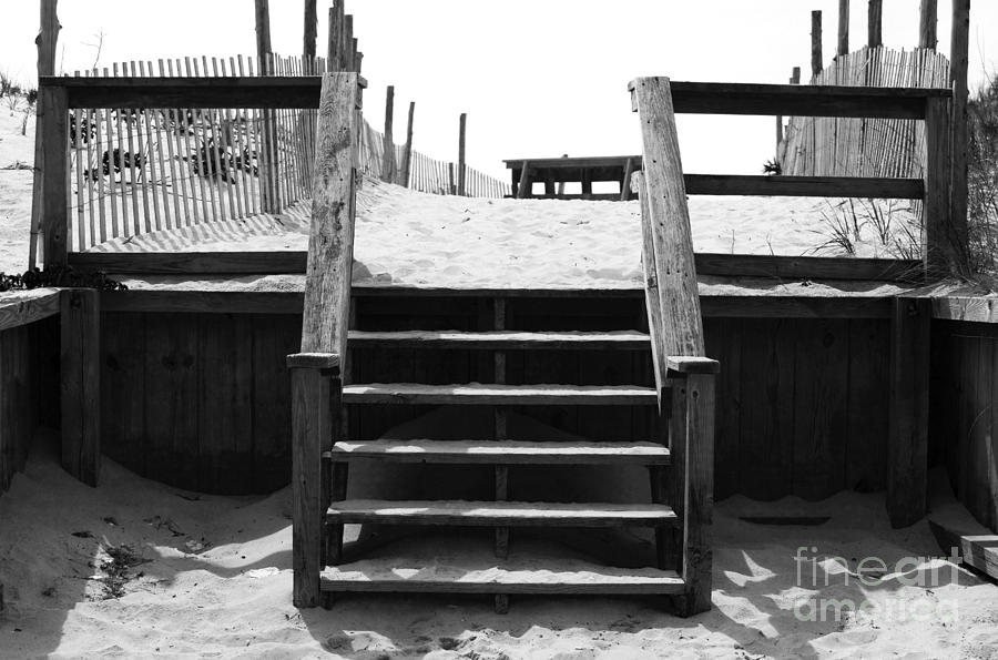 Stairway To Lbi Heaven Photograph - Stairway To Lbi Heaven by John Rizzuto