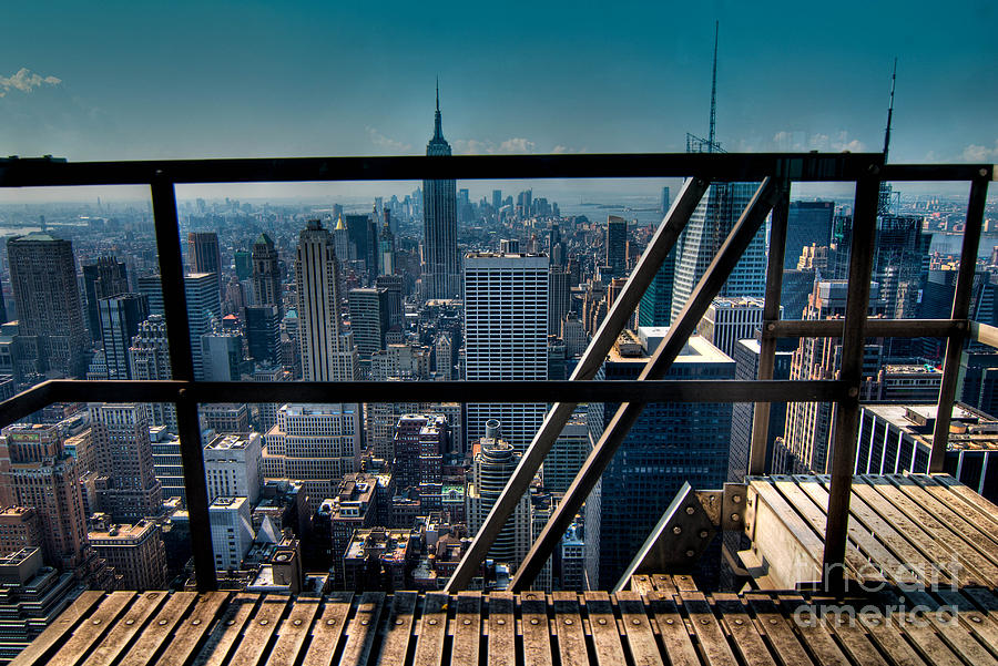 Stairways On Top Of Rockefeller Center Photograph