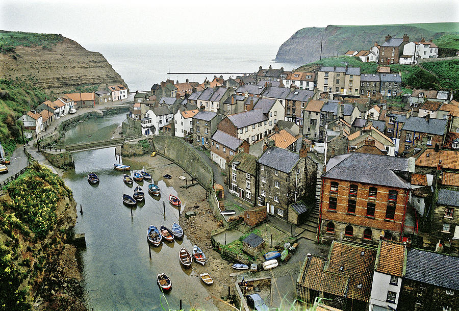 Staithes Yorkshire Uk 1980s Photograph  - Staithes Yorkshire Uk 1980s Fine Art Print