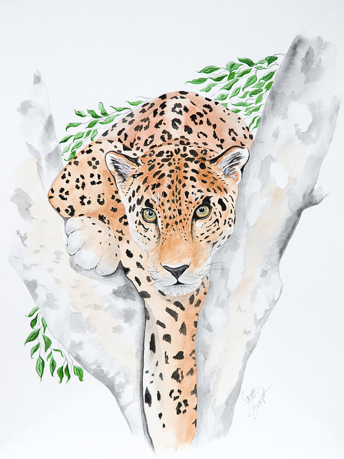 Stalker In The Trees Painting  - Stalker In The Trees Fine Art Print