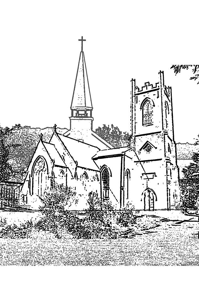 Stamp Of Churches Digital Art