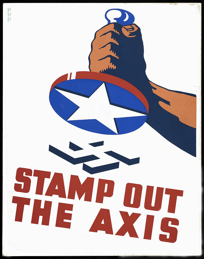 Stamp Out The Axis Digital Art  - Stamp Out The Axis Fine Art Print