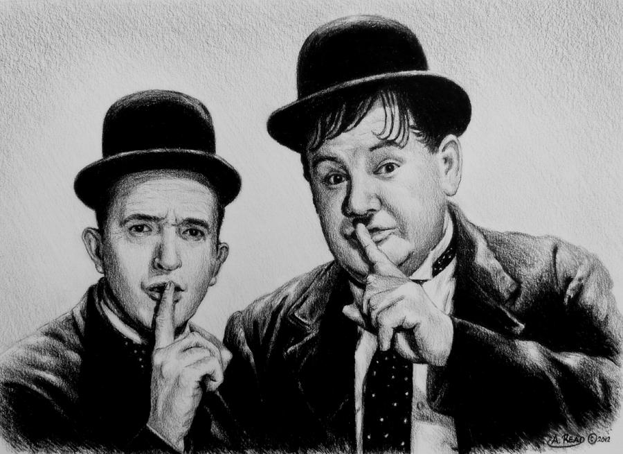 Stan And Ollie Drawing