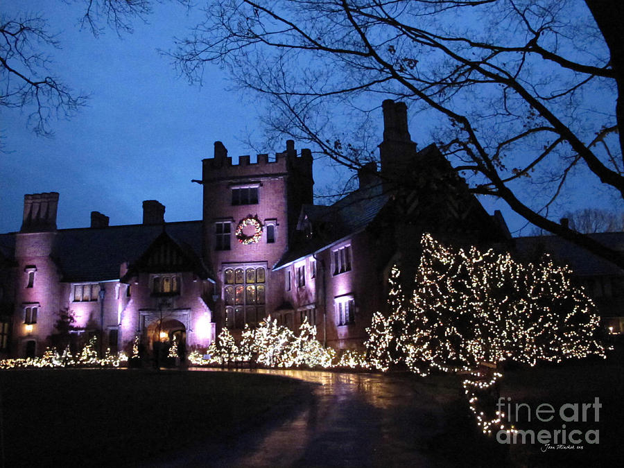Stan Hywet Photograph - Stan Hywet Hall And Gardens Christmas  by Joan  Minchak