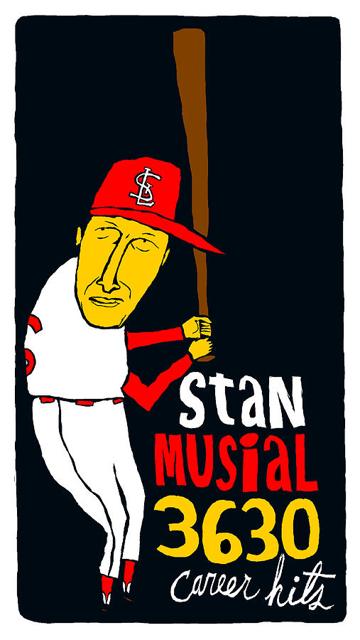 Stan Musial St Louis Cardinals Mixed Media