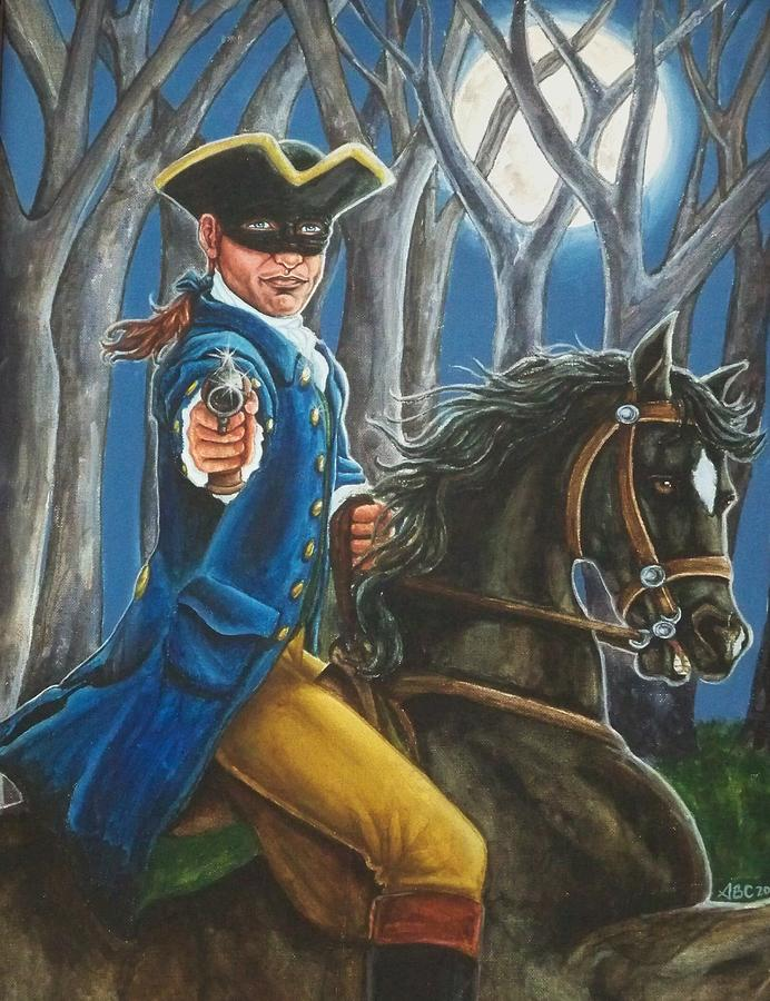 Highwaymen Painting - Stand And Deliver by Beth Clark-McDonal