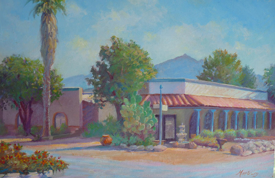 Standin On The Corner In Tubac Arizona Painting  - Standin On The Corner In Tubac Arizona Fine Art Print