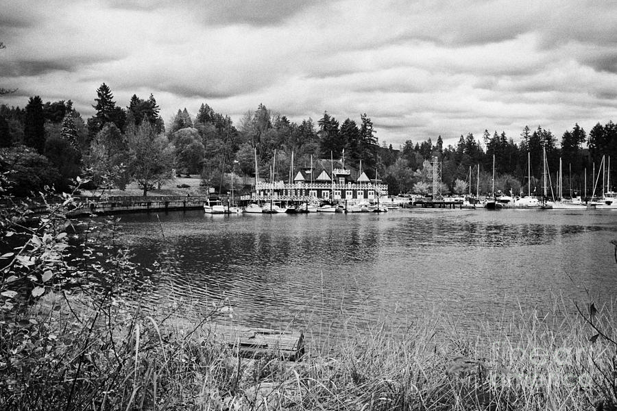 stanley park coal harbour and Vancouver rowing club marina BC Canada Photograph