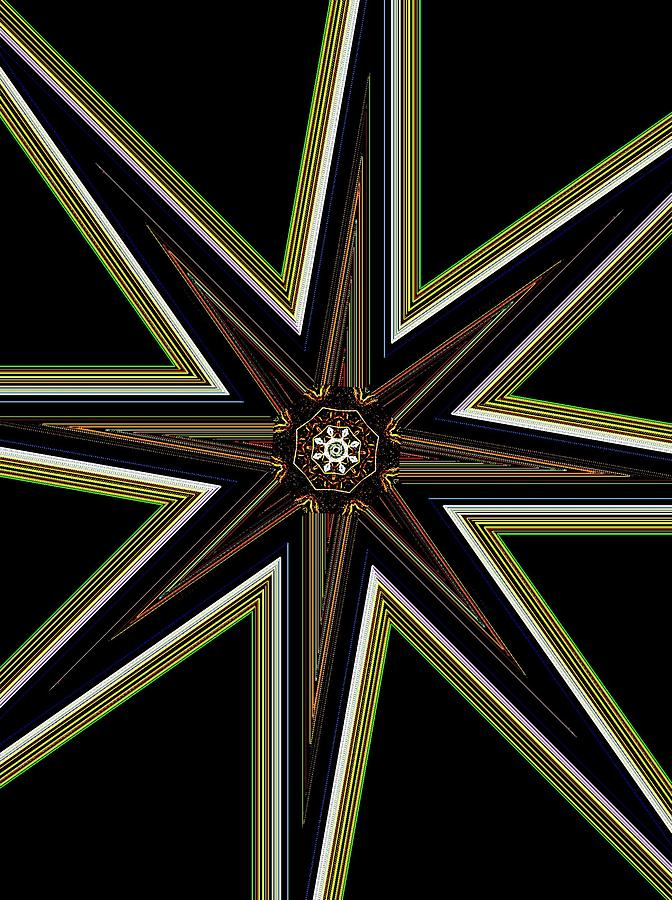 Star 1 Digital Art By Saribelle Rodriguez Photograph  - Star 1 Digital Art By Saribelle Rodriguez Fine Art Print