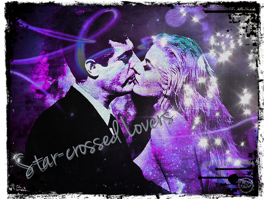 Lovers Digital Art - Star-crossed Lovers by Absinthe Art By Michelle LeAnn Scott
