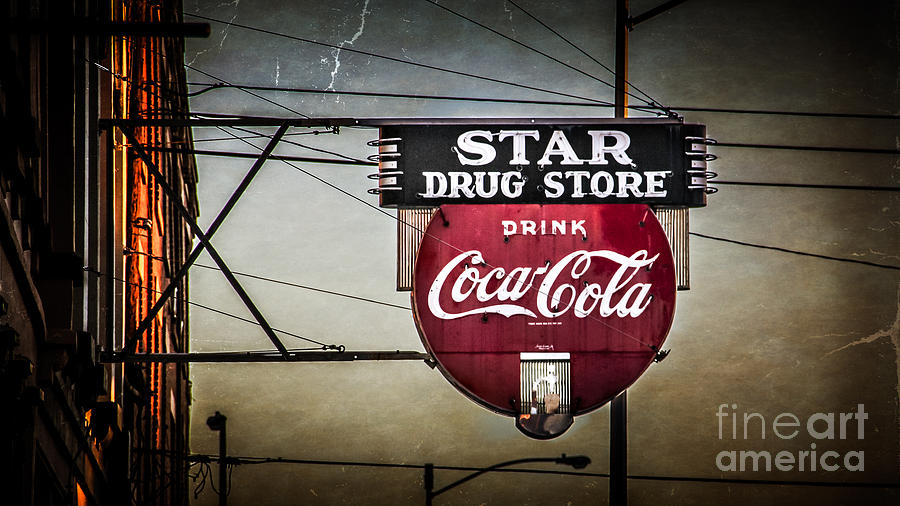 Sign Photograph - Star Drug Store 2 by Perry Webster