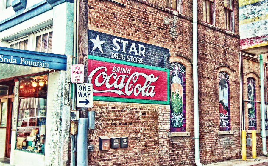 Star Drug Store Wall Sign - Hdr Photograph