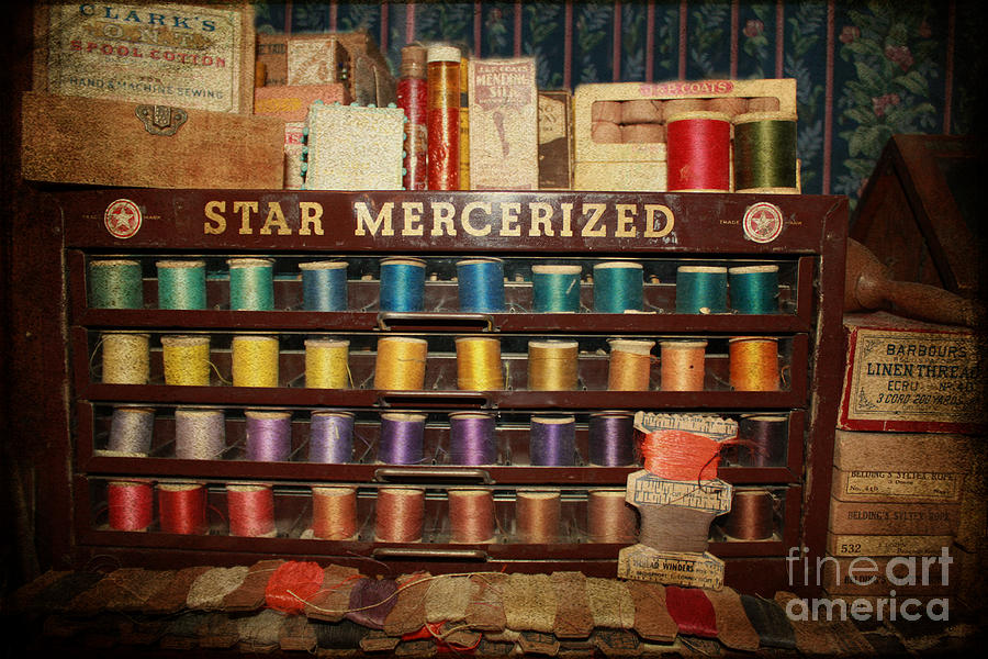 Star Mercerized Thread Display Photograph