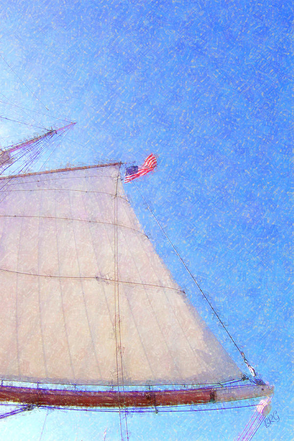 Star Of India. Flag And Sail Photograph
