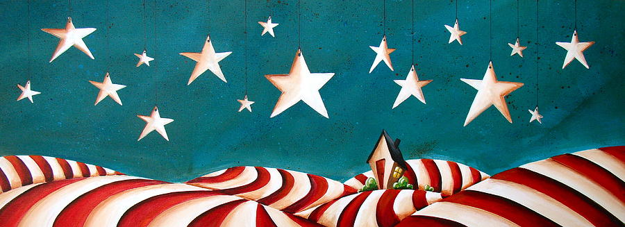 Star Spangled Painting  - Star Spangled Fine Art Print