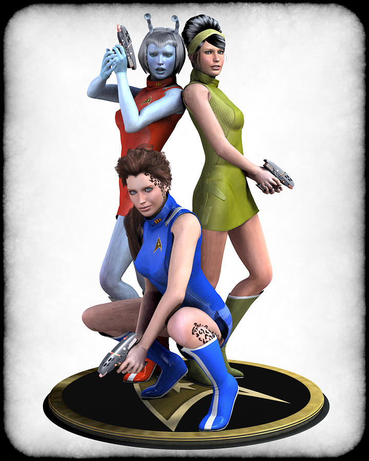 Star Trek - Kirks Angels Digital Art  - Star Trek - Kirks Angels Fine Art Print