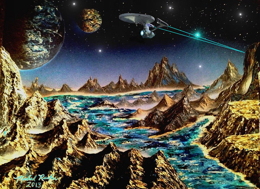 Star Trek - Orbiting Planet Painting