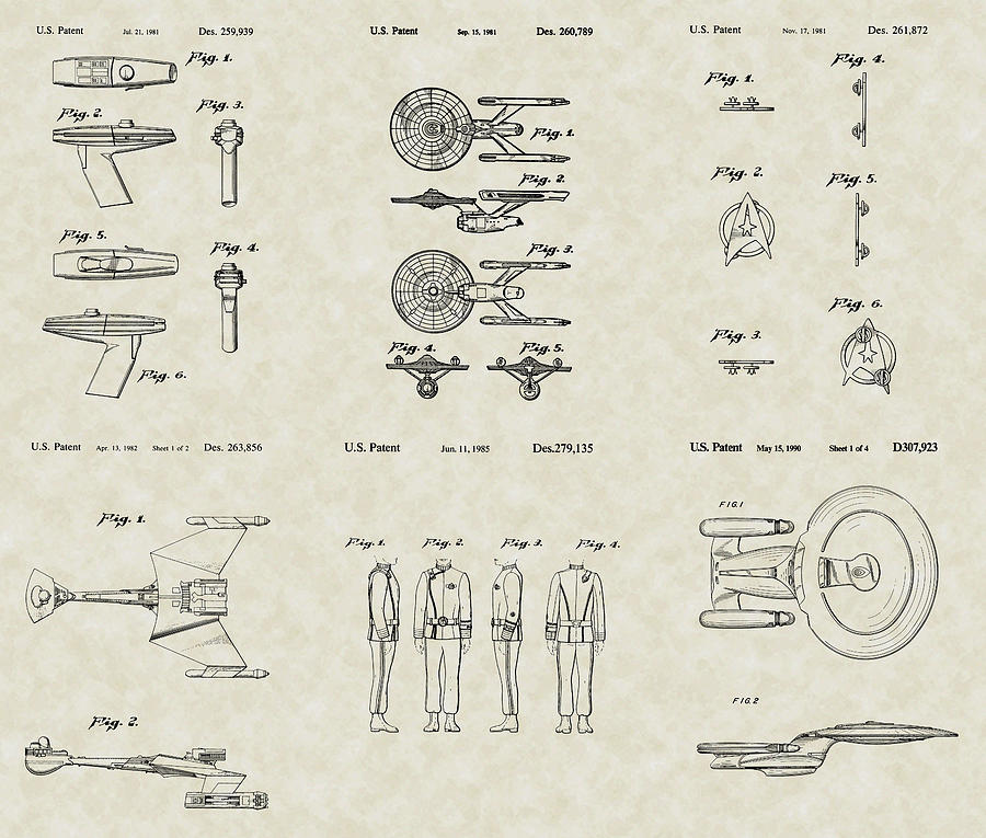 Star Trek Patent Collection Drawing