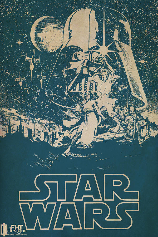 Star Wars Painting  - Star Wars Fine Art Print
