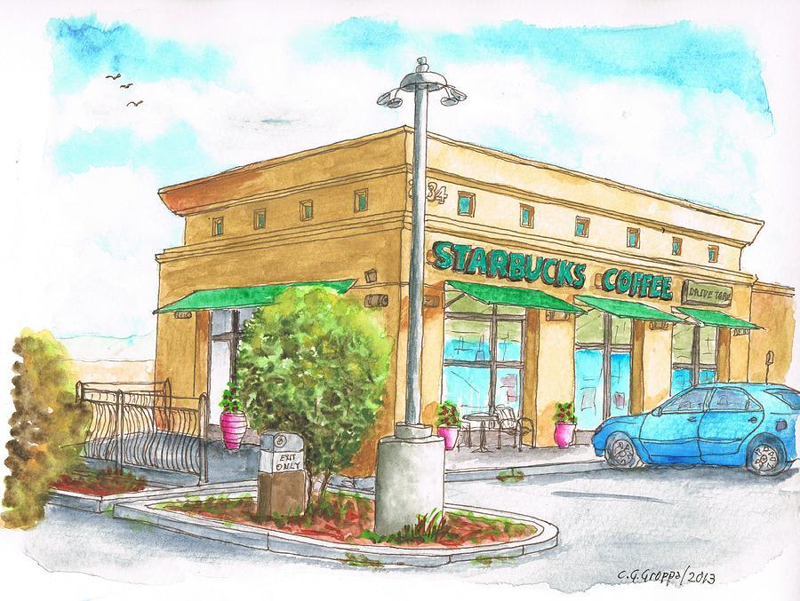 Starbucks Coffee In Barstow - Ca Painting