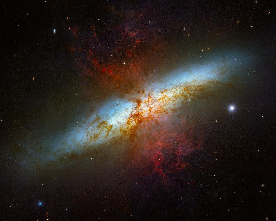 Starburst Galaxy M82 Photograph