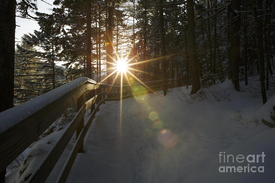 Starburst Sun Shine - Franconia Notch State Park New Hampshire  Photograph