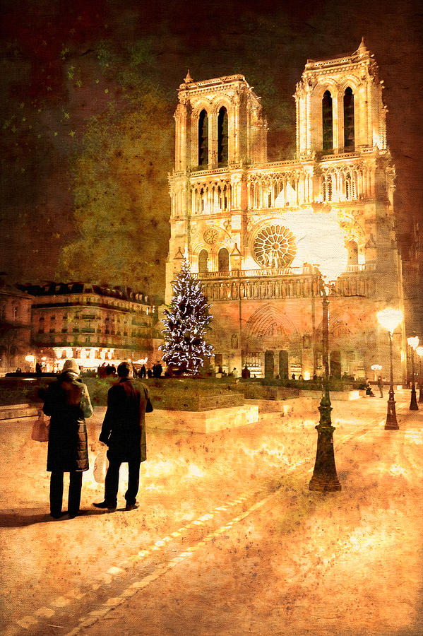 Stardust Over Notre Dame De Paris Cathedral Photograph  - Stardust Over Notre Dame De Paris Cathedral Fine Art Print