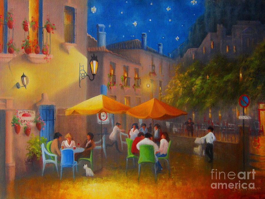 Starry Night Cafe Society Painting