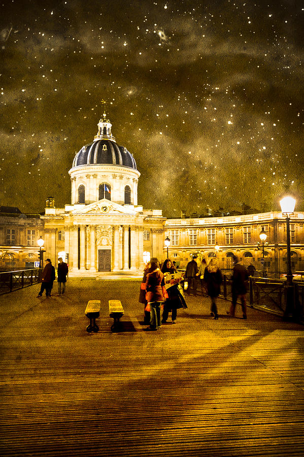 French Architecture Photograph - Starry Night Over The Institut De France by Mark Tisdale