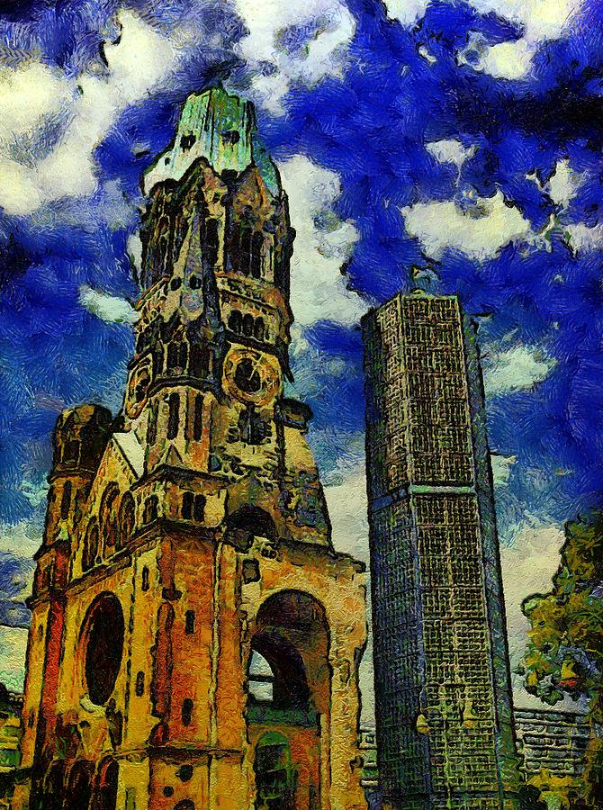 Starry Nights Over Berlin Painting