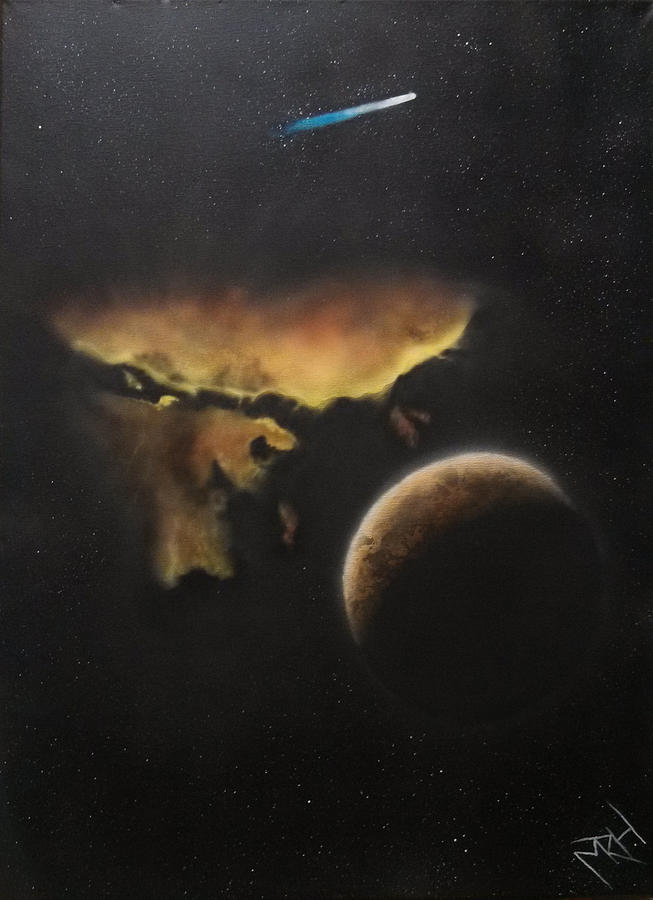 Solar System Painting - Stars Are What Dream Are Made Of by Michael Hall