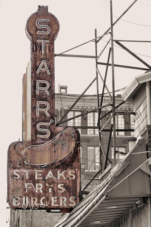 Stars Steaks Frys And Burgers Photograph  - Stars Steaks Frys And Burgers Fine Art Print