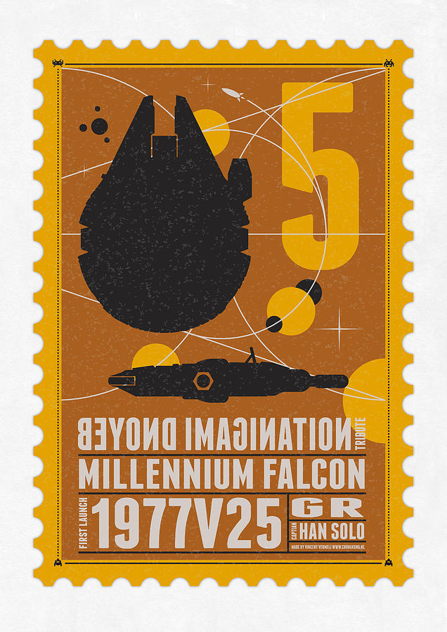 Starschips 05-poststamp -star Wars Digital Art  - Starschips 05-poststamp -star Wars Fine Art Print