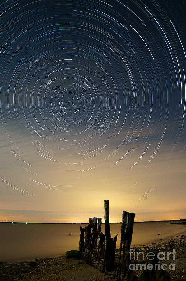 Cloud Photograph - Startrails 2 by Benjamin Reed