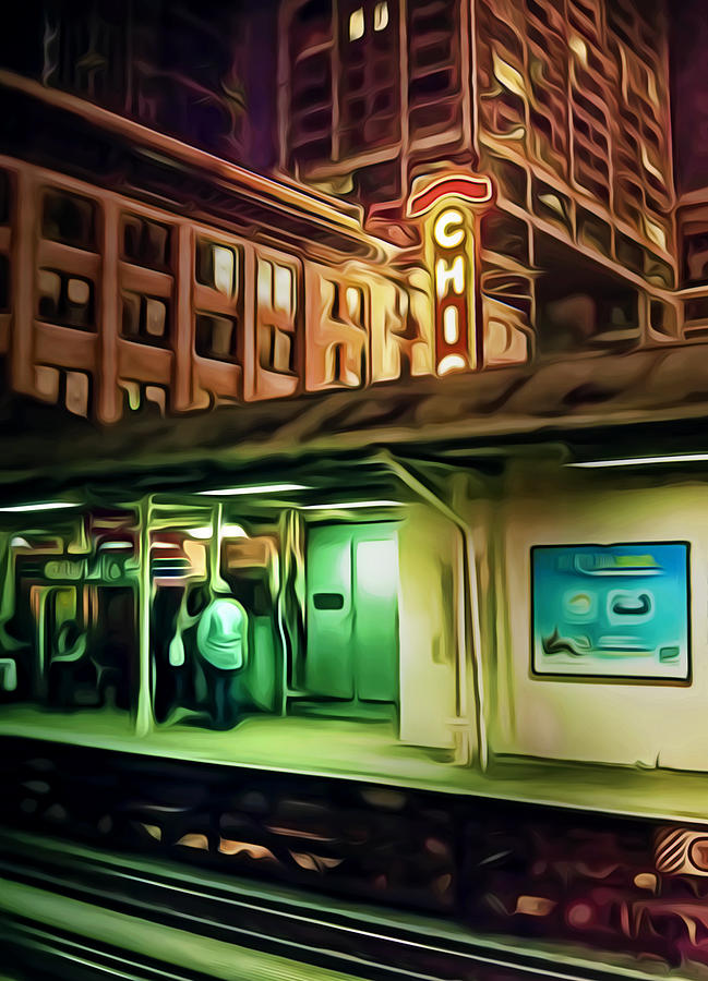 Chicago Digital Art - State And Lake by Scott Norris