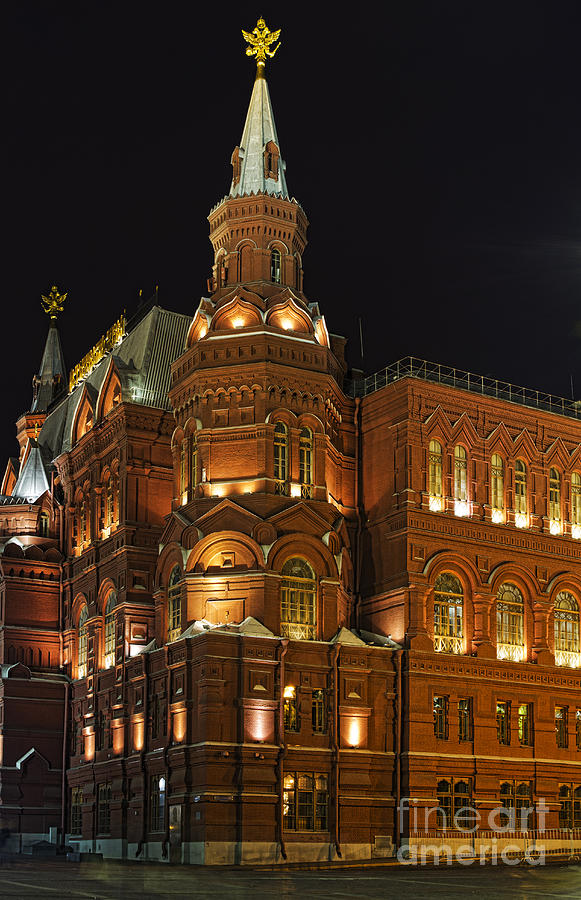 State Historical Museum Photograph - State Historical Museum Moscow by Elena Nosyreva