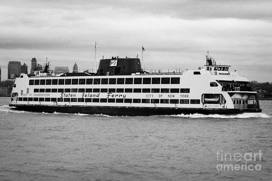 staten island ferry Andrew J Barberi new york usa Photograph  - staten island ferry Andrew J Barberi new york usa Fine Art Print