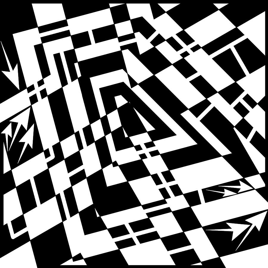 Static Formations Maze Drawing