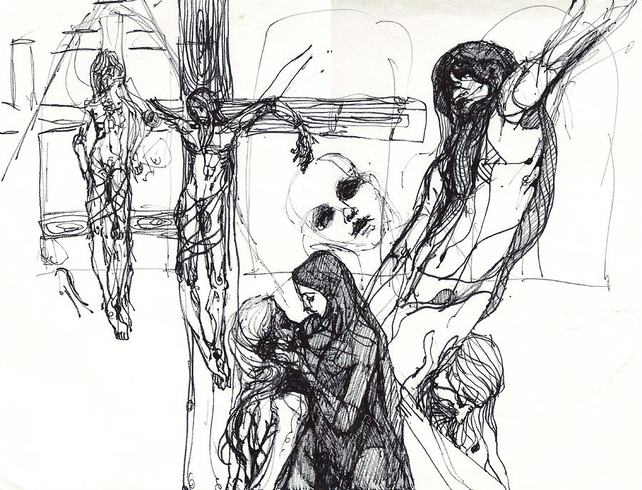 Stations Of The Cross Study Drawings Drawing