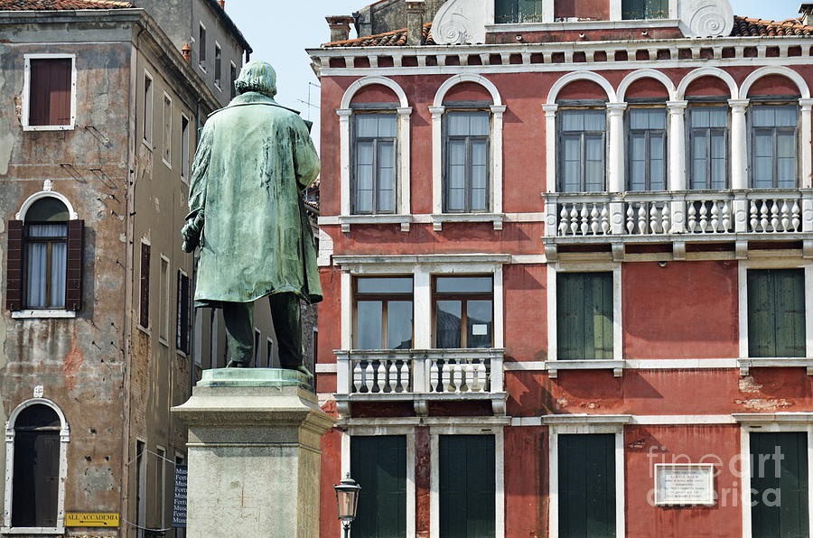 Statue And Building Facade Photograph