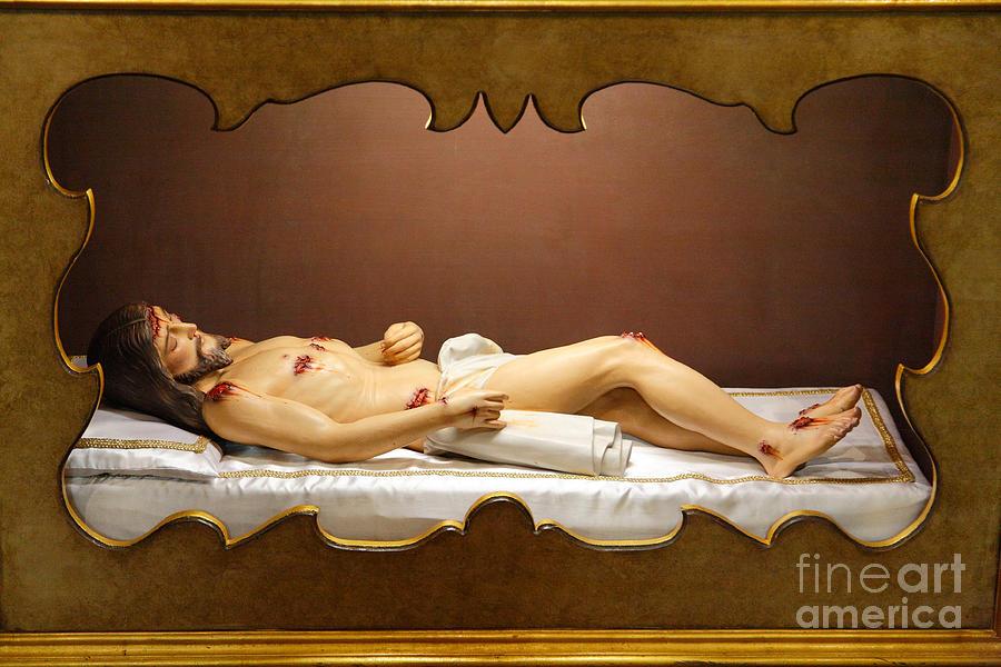 God Photograph - Statue Of Dead Christ by Gaspar Avila