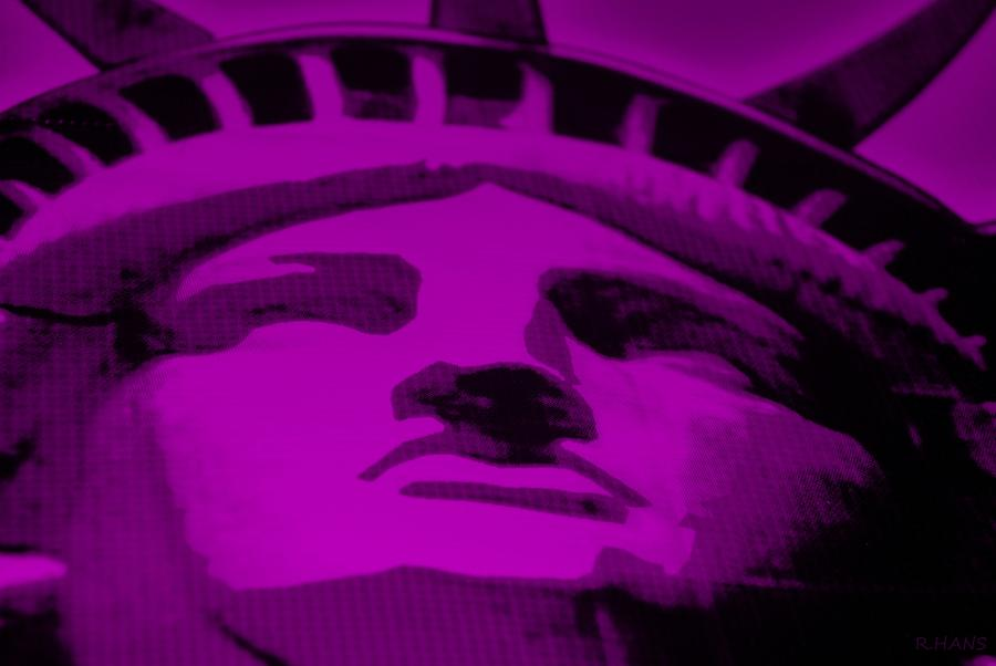 Statue Of Liberty In Purple Photograph