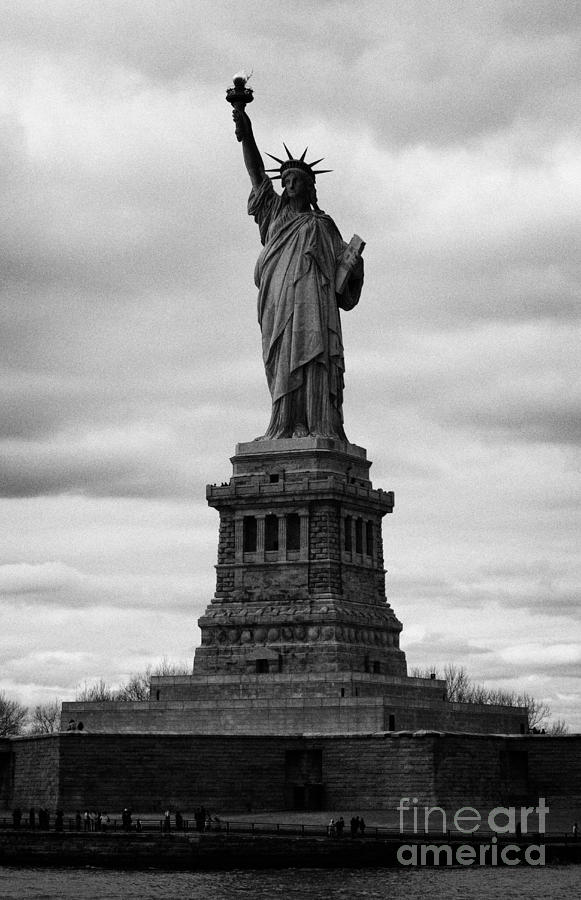 Statue Of Liberty National Monument Liberty Island New York City Usa Photograph  - Statue Of Liberty National Monument Liberty Island New York City Usa Fine Art Print