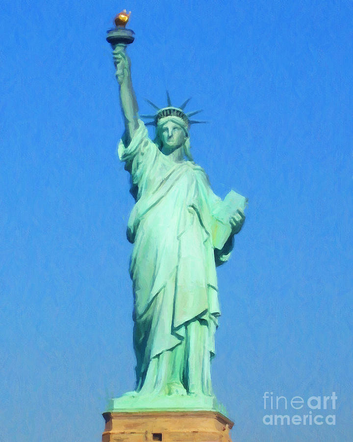 Statue Of Liberty Painterly 20130618 Photograph  - Statue Of Liberty Painterly 20130618 Fine Art Print