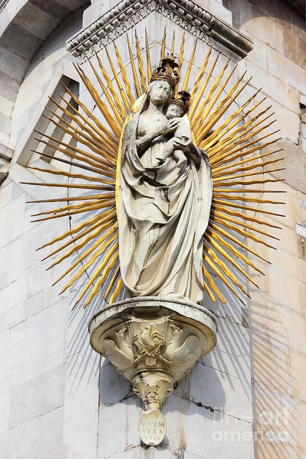 Statue Of Madonna Salutis Portus  Photograph