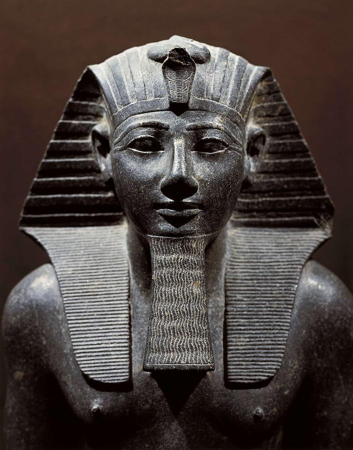 Vertical Photograph - Statue Of Tuthmosis IIi. 1490 -1439 Bc by Everett