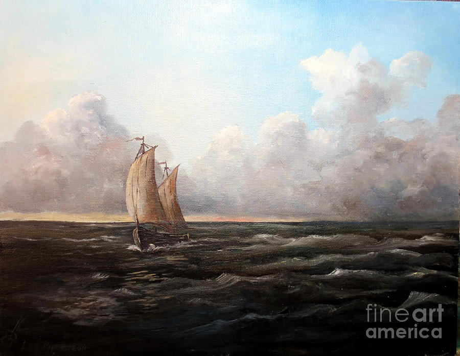 Staying Ahead Of The Weather Painting  - Staying Ahead Of The Weather Fine Art Print