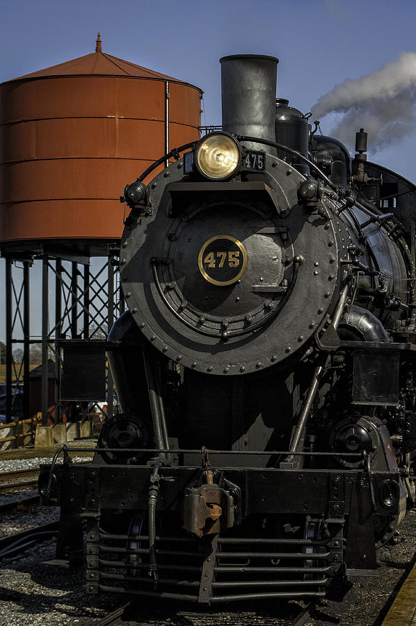 Steam Engine #475 Pulling Into The Strasburg Rr Station  01 Photograph