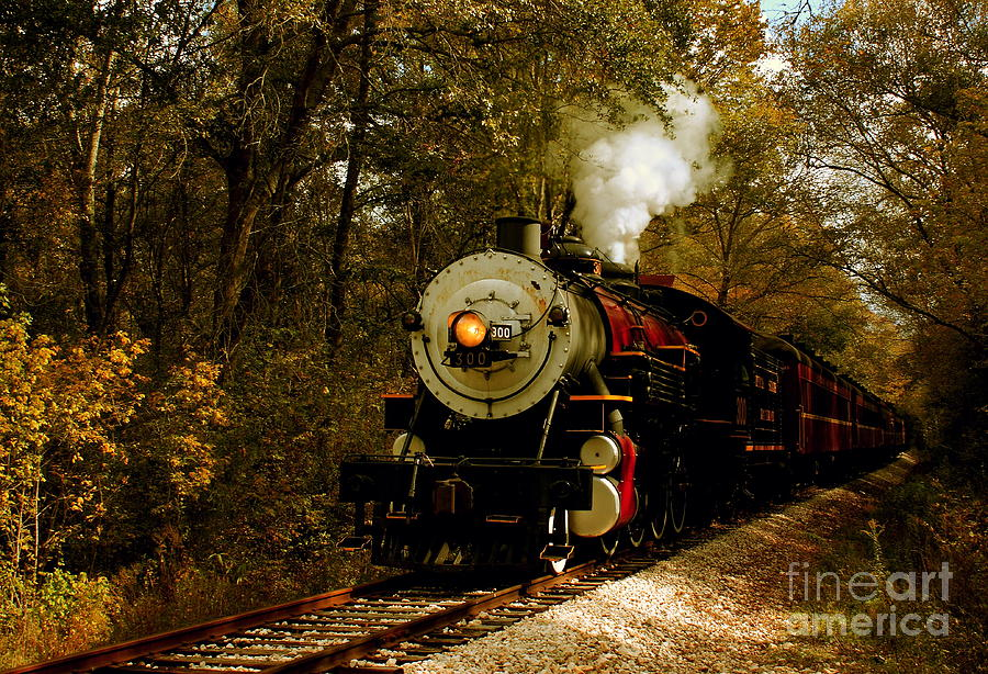 Transportation Photograph - Steam Engine No. 300 by Robert Frederick